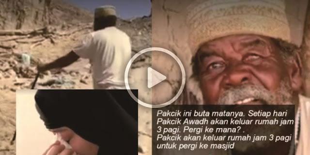 VIDEO: Mengandalkan Seutas Tali, Pria Buta Ini Setiap Jam 3 Pagi Senantiasa Ke Masjid Untuk Adzan Awal