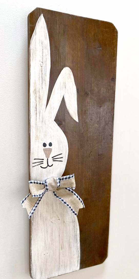 Repurposed Rustic Easter Bunny Sign