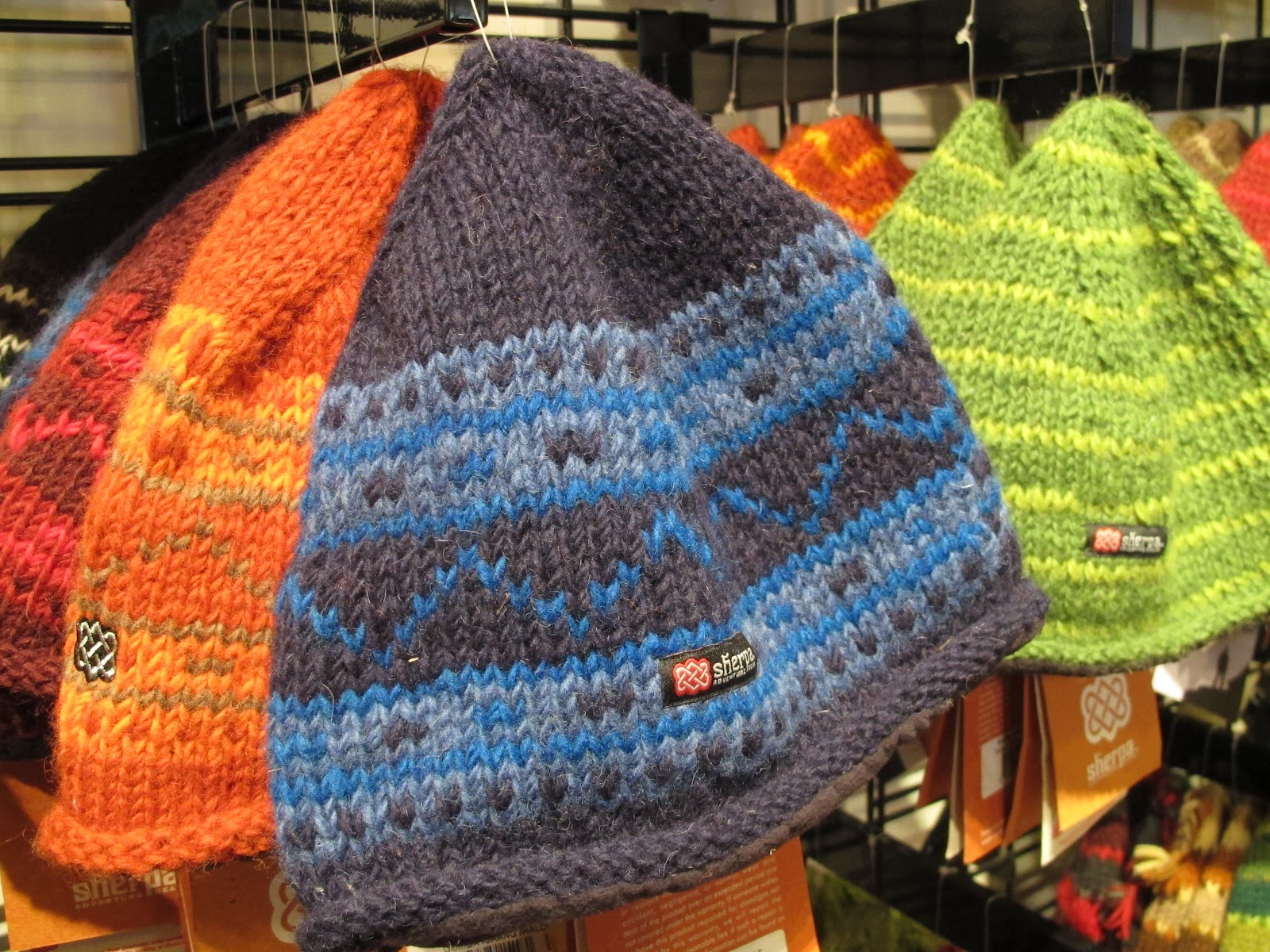 8e4d533df46 Vibrant and warm Sherpa hats - all handmade by the Sherpa family