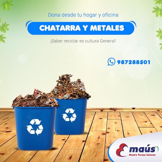 Recicla chatarra y metales en Lima