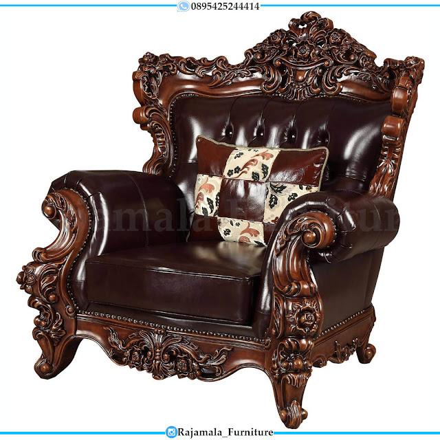 Sofa Tamu Mewah Jati Natural Classic Luxury Adorable Design RM-0493