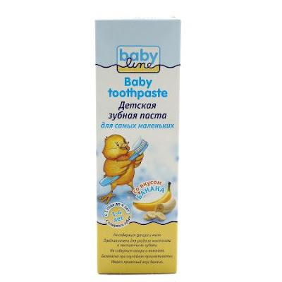 Kem đánh răng Babyline vị chuối cho bé từ 1-4 tuổi