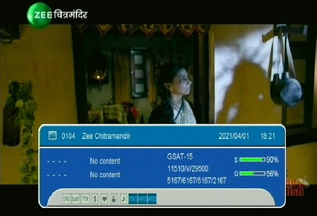 Zee Chitramandir or Zee Zabardast Channel Number and Satellite Frequency List
