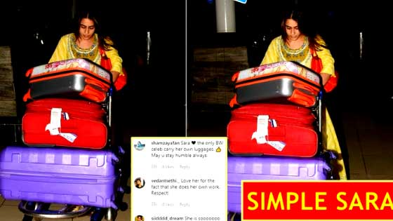 Sara Ali Khan Impresses Netizens By Her Luggage