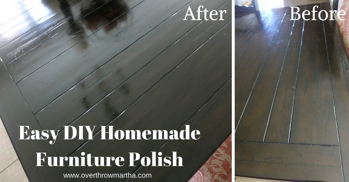 Simple Homemade Wood Furniture Polish Overthrow Martha