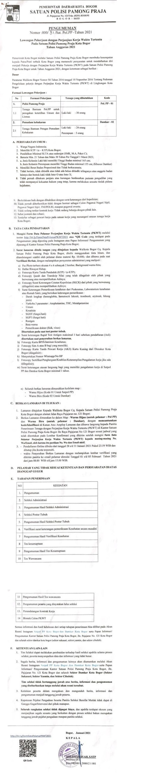 Tenaga Banpol PP dan Anggota Damkar Satpol Pamong Praja Tingkat SMA SMK Tahun Anggaran 2021