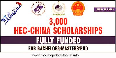 اكثر من 3000 منحة HEC-China لدراسية للبكالوريوس والماجستير والدكتوراه - ممولة بالكامل