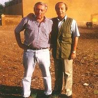 Sebastián Moreno con Samuel Flores.