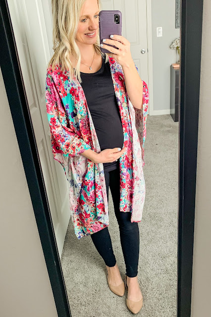 Kimono maternity outfit