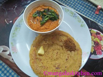 Coconut Gram Dal Chutney - Side Dish for Adai, Dosa and Idli