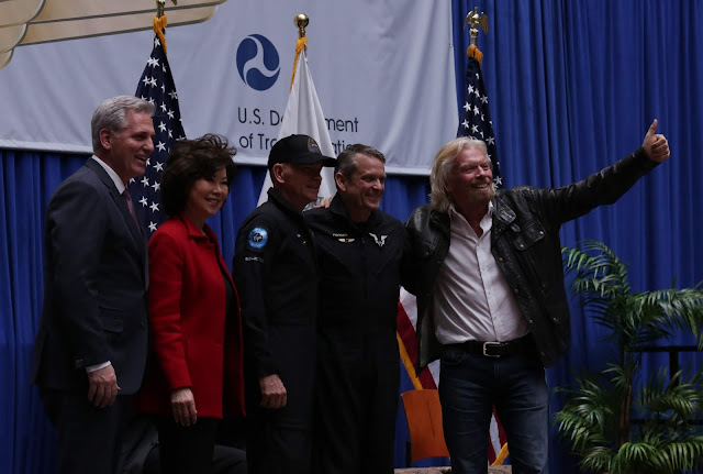 virgin galactic pilots award