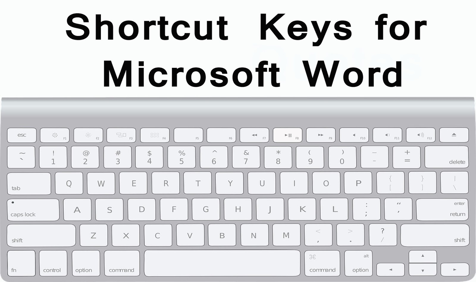 ms word 2007 shortcut keys pdf