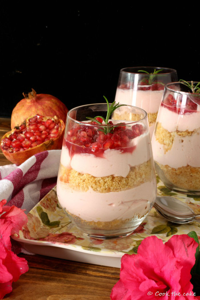 espuma-de-queso-y-granada, pomegranate-cheesecake-in-a-jar