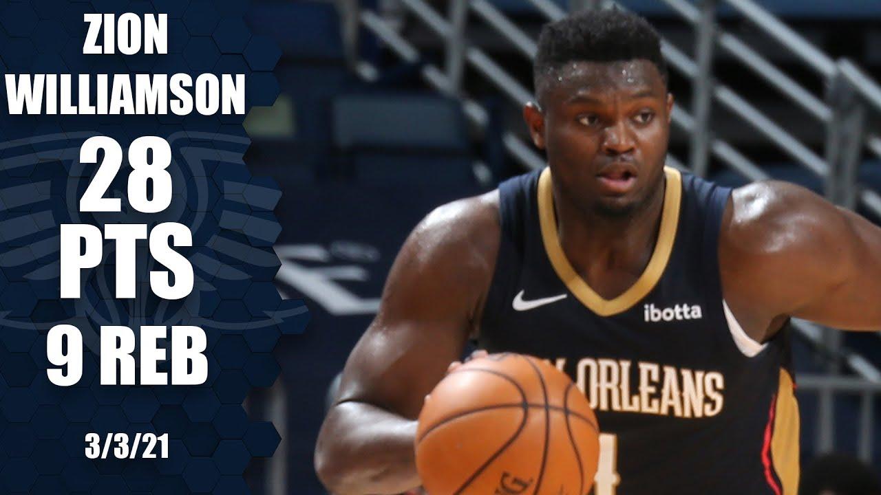 Zion Williamson 28pts 9reb 5ast vs CHI   March 3, 2021   2020-21 NBA Season