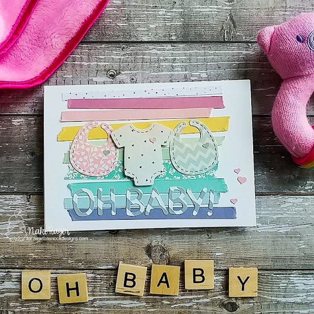 Newton's Nook Designs Baby Bibs + Stitched Onesie Die Sets - Naki Rager