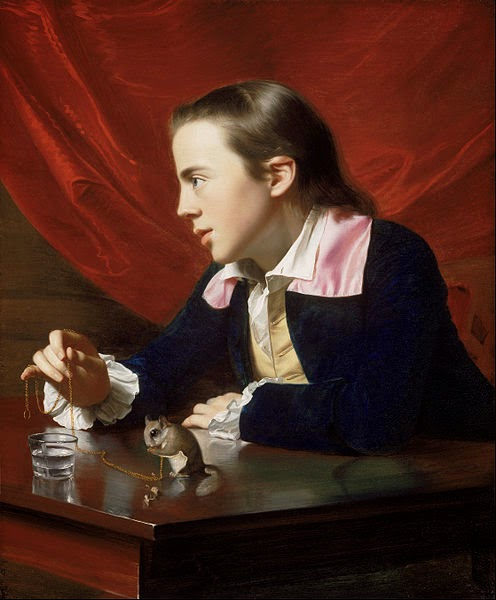 A Boy with a Flying Squirrel by John Singleton Copley, 1765