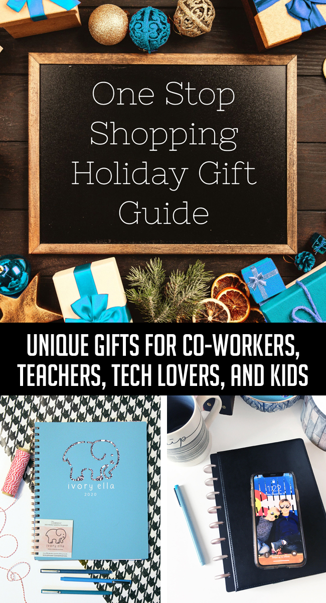 Simplify your holiday season with this One-Stop Shopping Gift Guide. Find unique gift ideas from Office Depot and OfficeMax for everyone on your list – from co-workers to kids, and teachers to tech lovers. Working moms willreally appreciate the convenience of being able to print holiday cards and shop for and ship my gifts from the same place that you're already shopping for your business needs.