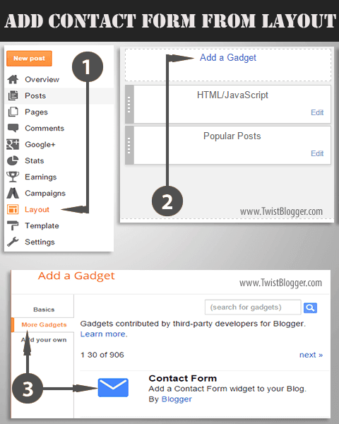 How to a Create New Page on Blogger and Add Contact Form