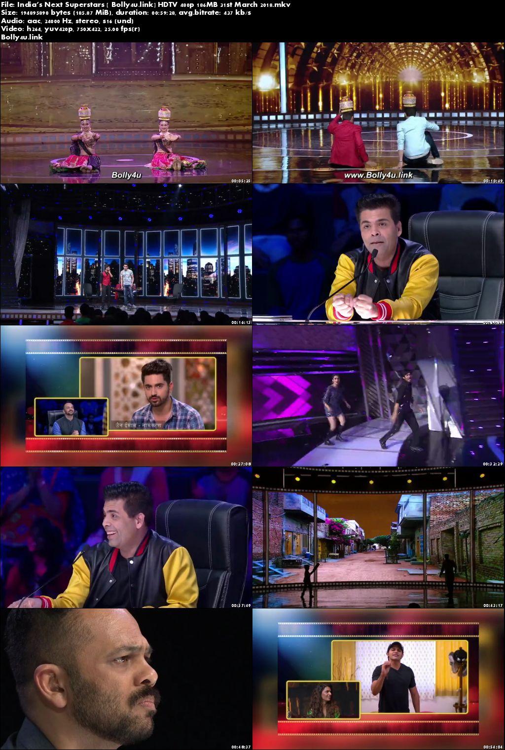 Indias Next Superstars HDTV 480p 180MB 31 March 2018 Download