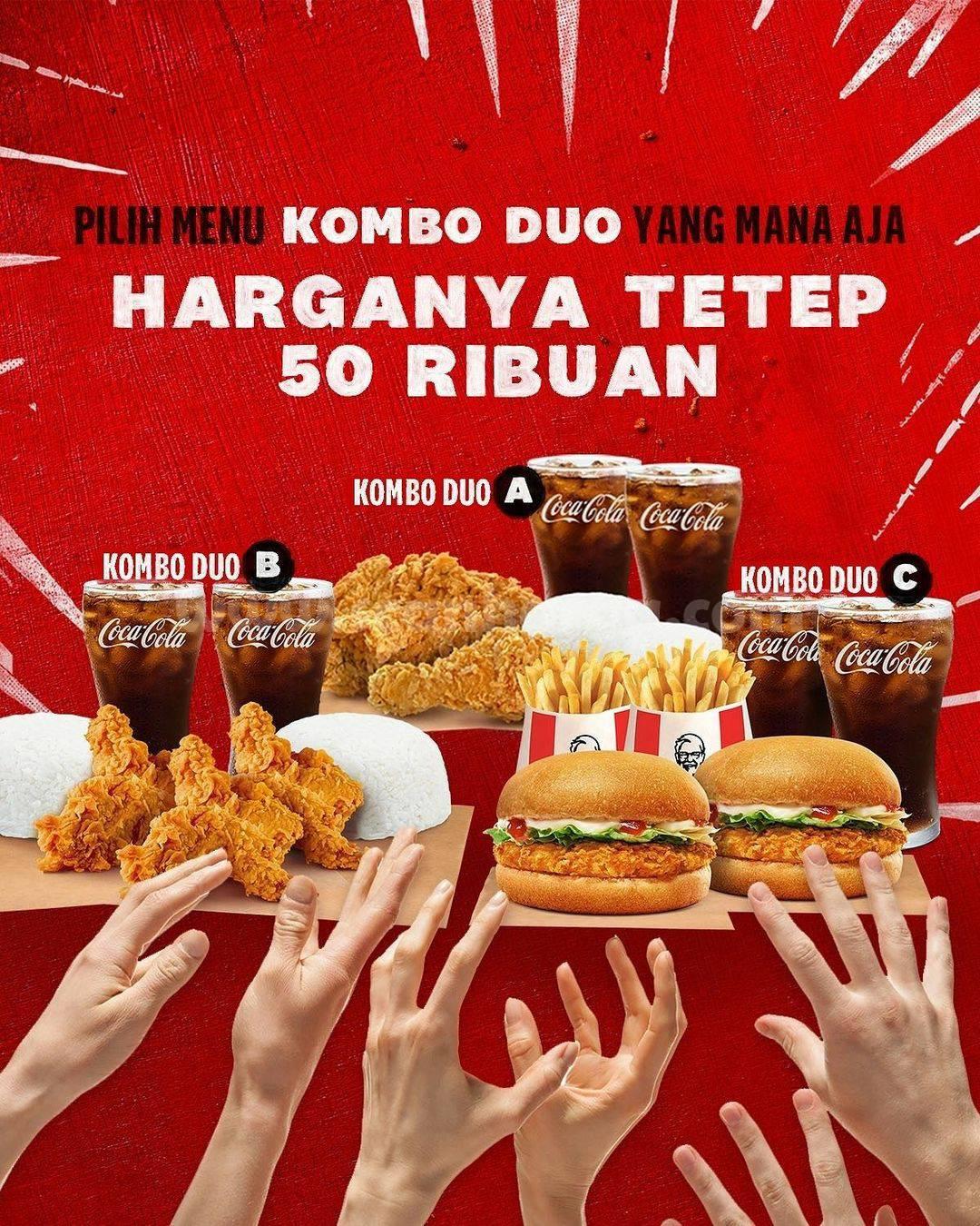 KFC Kombo Duo Pilih Menu Yang Mana Aja! Harganya Tetep 50 Ribuan