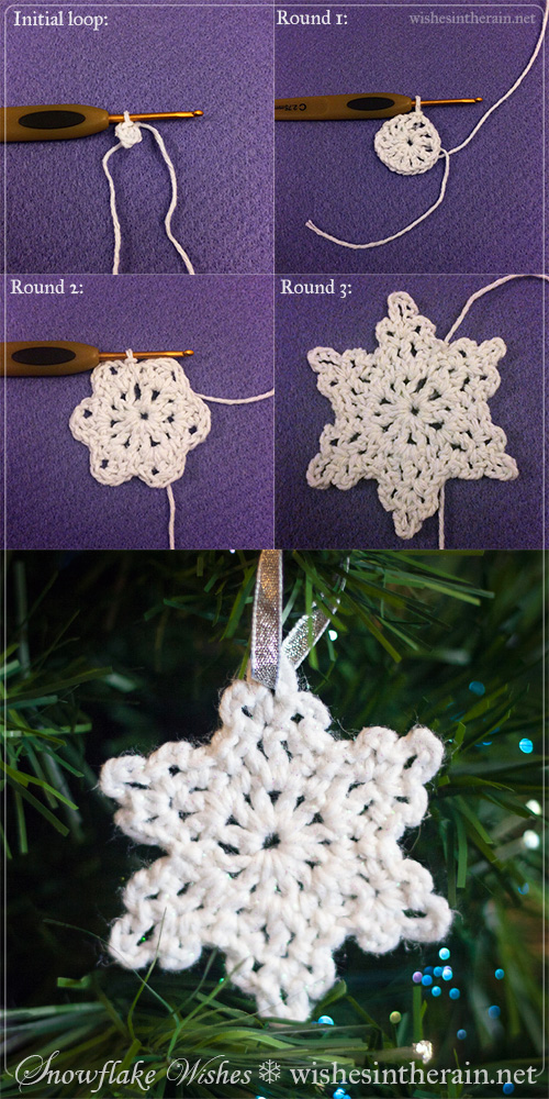 instructions for making a simple snowflake - www.wishesintherain.net