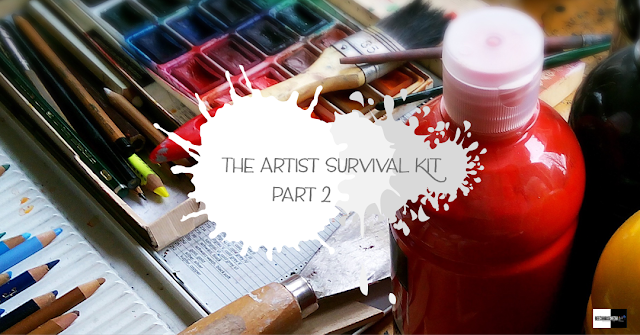 artist survival kit, art tips, practical art tips, art projects, artist advice,