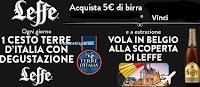 Logo Concorso ''Esalta i sapori dei tuoi piatti con Leffe': vinci 27 Cesti terre d'Italia con couvette Leffe e viaggio in Belgio