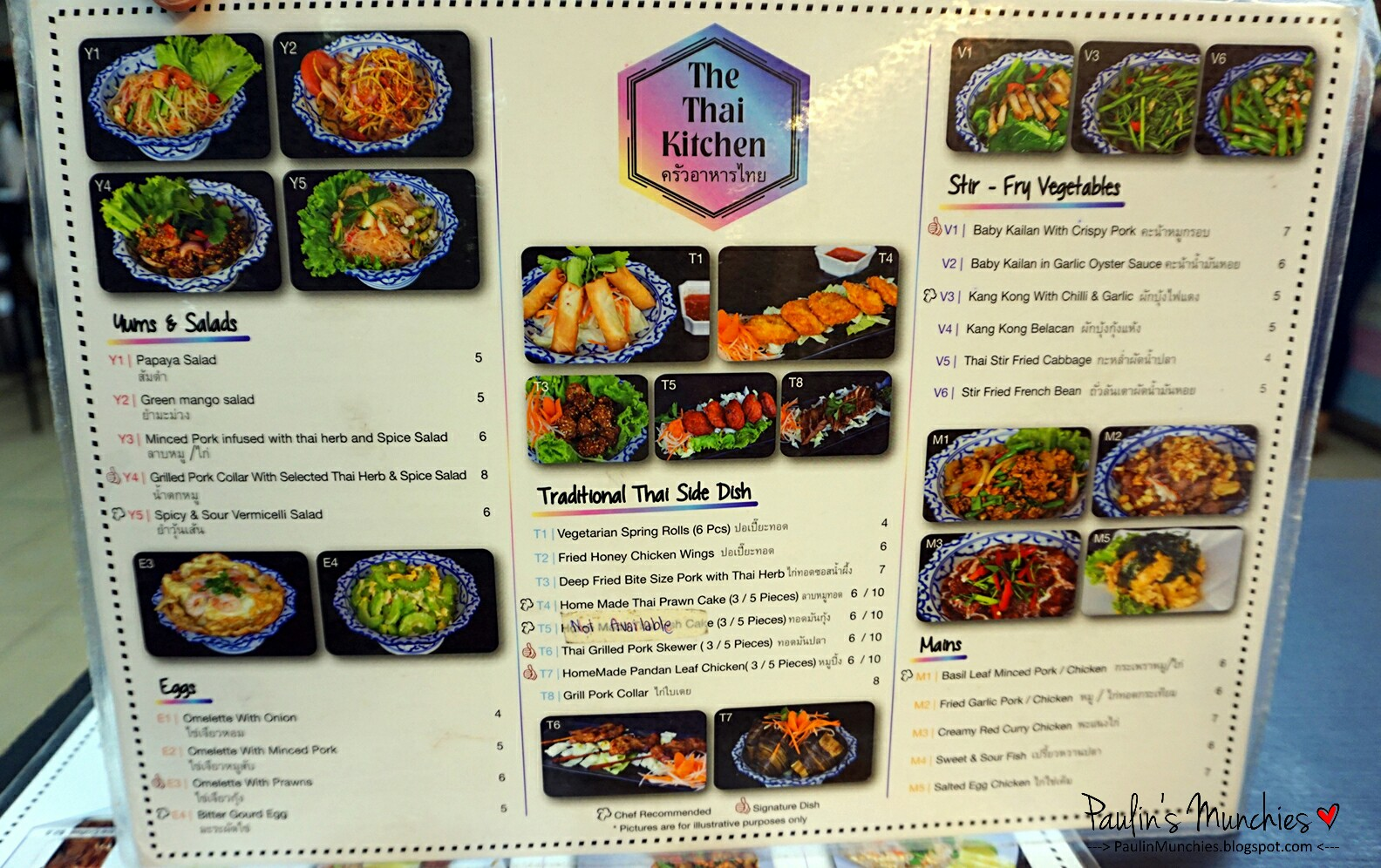 The Talad Drink And Thai Kitchen Menu