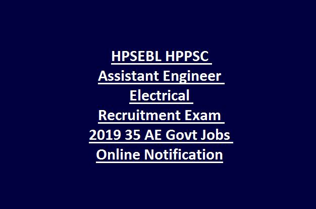HPSEBL HPPSC Assistant Engineer Electrical Recruitment Exam