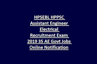 HPSEBL HPPSC Assistant Engineer Electrical Recruitment Exam 2019 35 AE Govt Jobs Online Notification