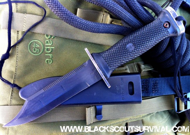 Black scout survival mk 3 mod 0 diving survival knife issued knife of the u s navy seals - Navy seal dive knife ...