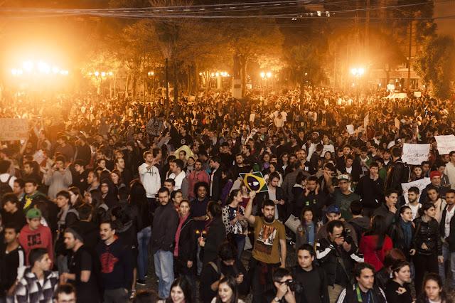 Manifestações em Curitiba-PR,17 de junho de 2013.
