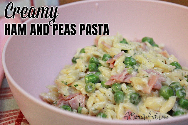 Creamy Ham and Peas Orzo