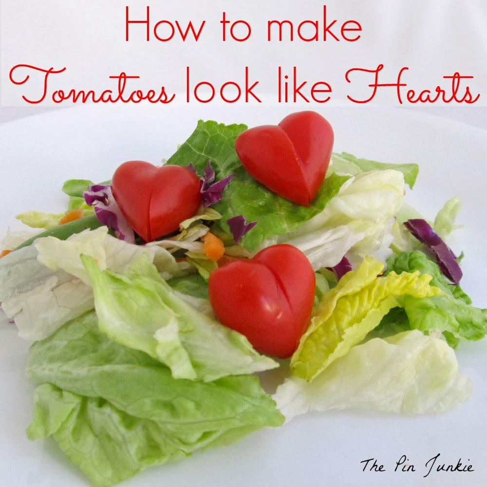 make tomatoes look like hearts