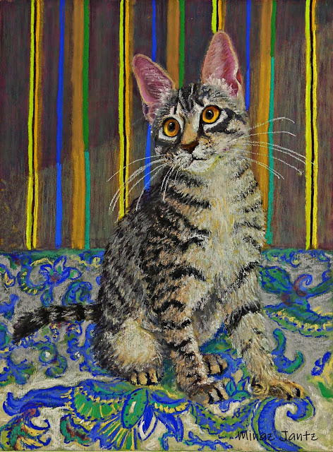 Quinn Who Has Been Sleeping in My Bed (Pastel) by Minaz Jantz