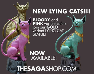 Saga Lying Cat Statue by Skybound – Bloody Variant, Gold Edition & Pink Edition
