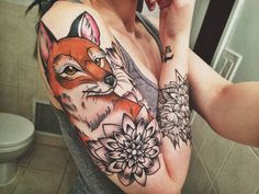 22 Awesome Fox Tattoos For Women and Men