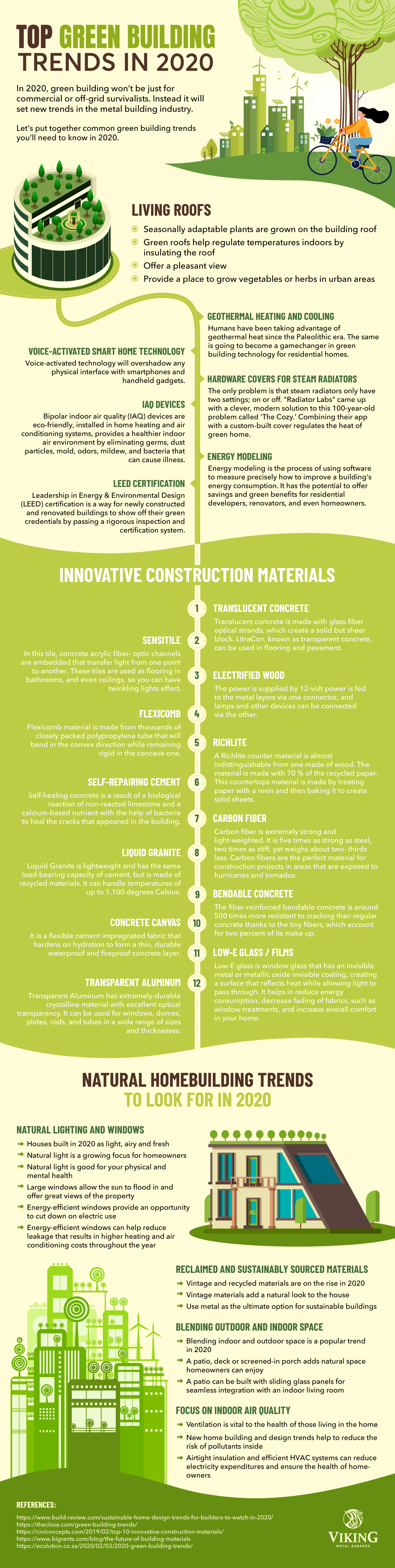 Top Green Building Trends in 2020 #infographic