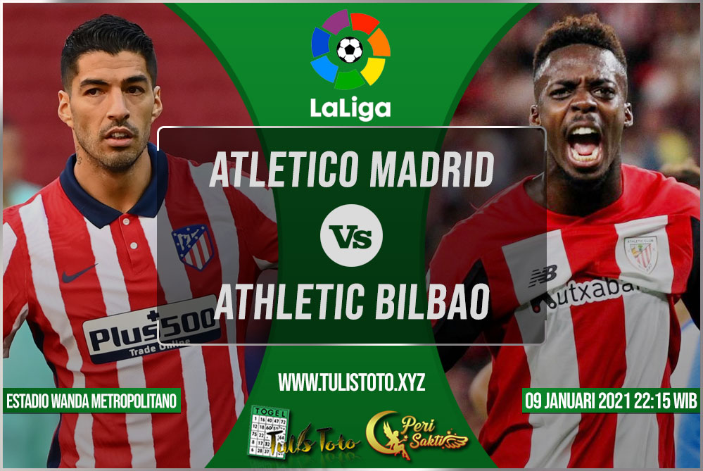 Prediksi Atletico Madrid vs Athletic Bilbao 09 Januari 2021