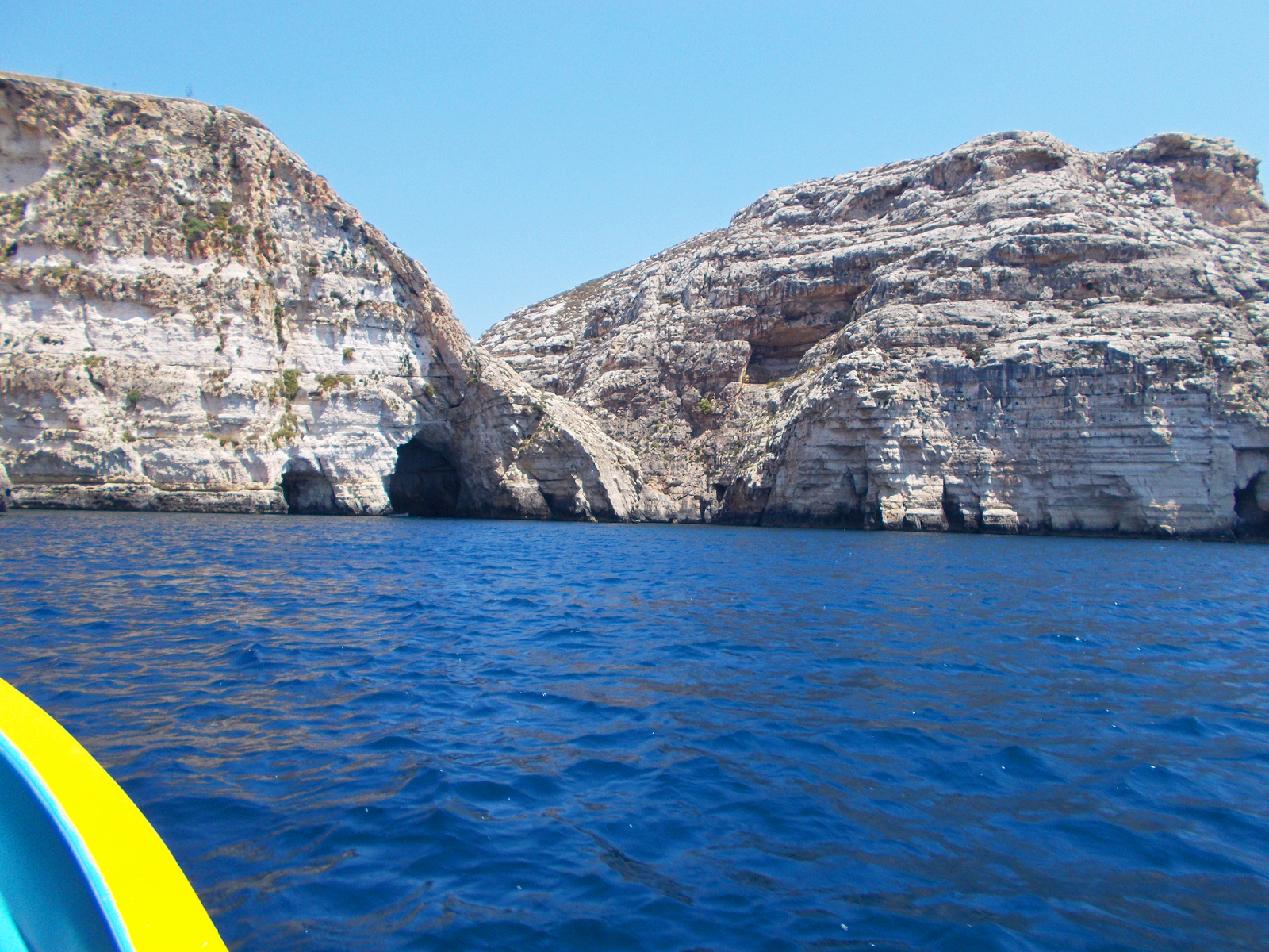 The view of the Blue Lagoon whilst on a boat ride in Malta