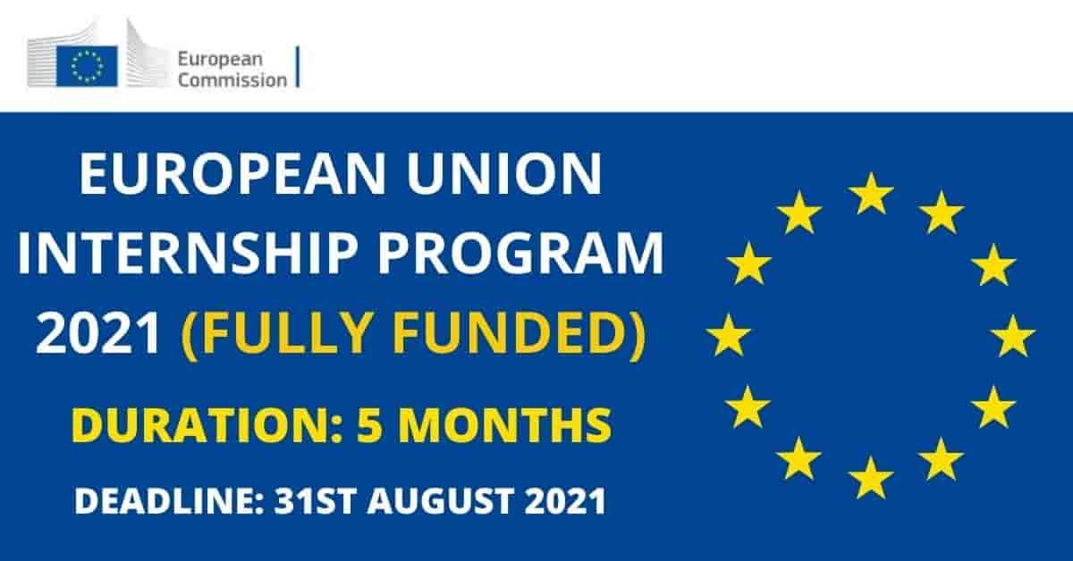 Programme de stage entièrement financé de l'Union Européenne 2021-2022