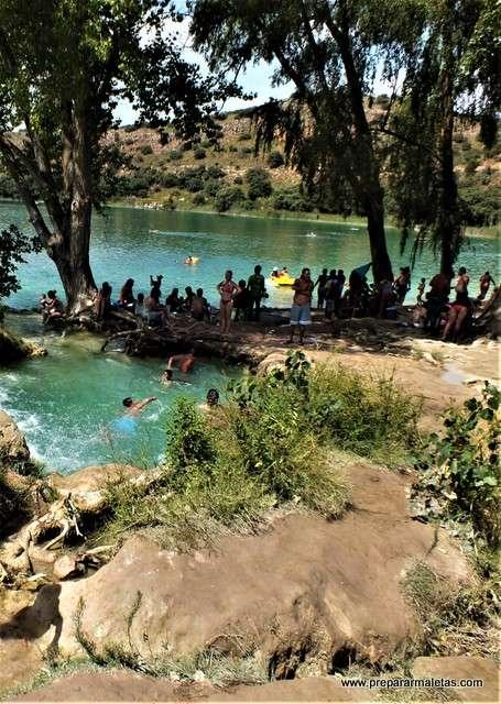 piscinas naturales en las Lagunas de Ruidera