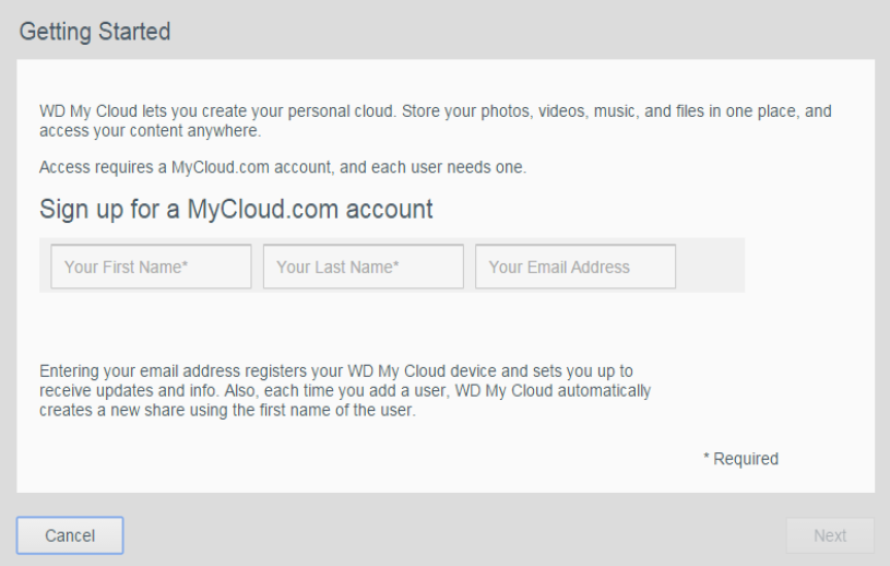 Quick Fix: Registering for the WD My Cloud service