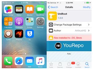 اداة UniBoot جلبريك IOS 12.4 جعل الجلبريك غير مقيد
