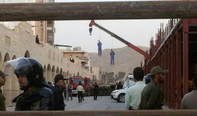 Public execution of two brothers, Dogonbadan, Iran, 15 March 2017