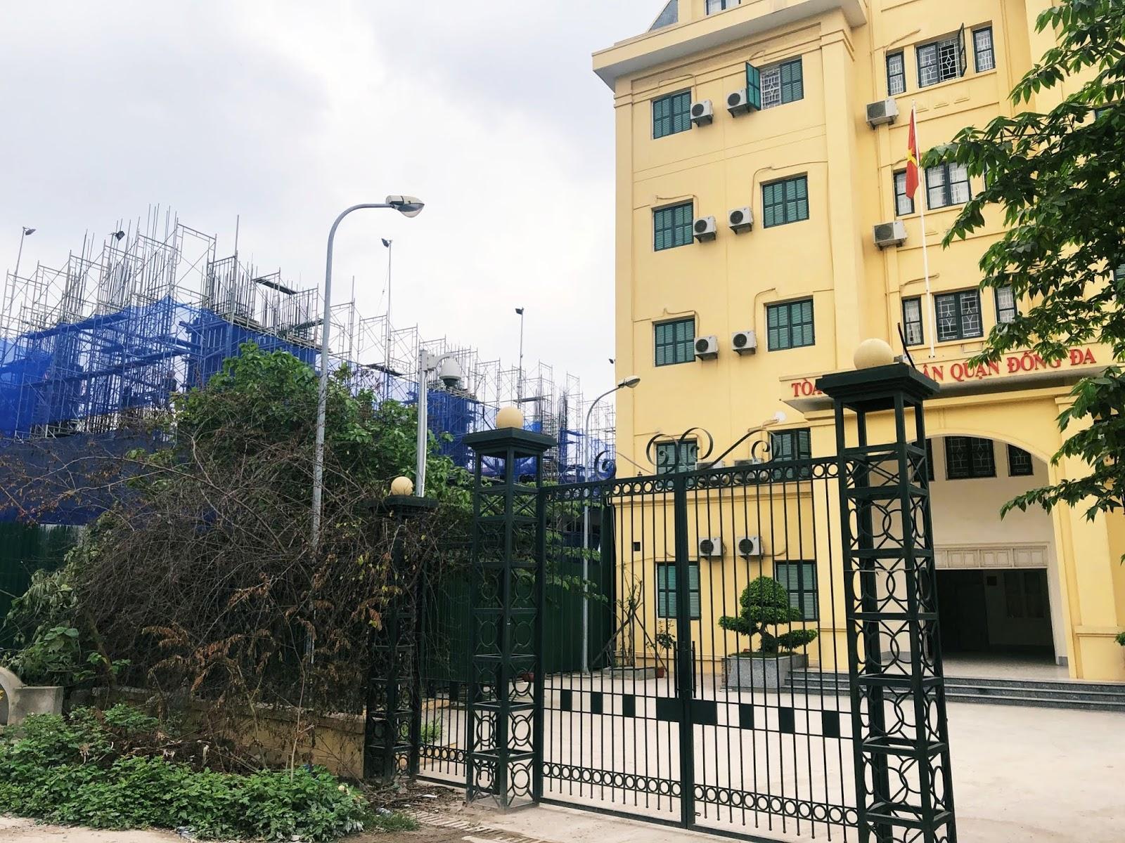 Dự án Hateco La Roma nằm ngay cạnh toà án nhân dân quận Đống Đa