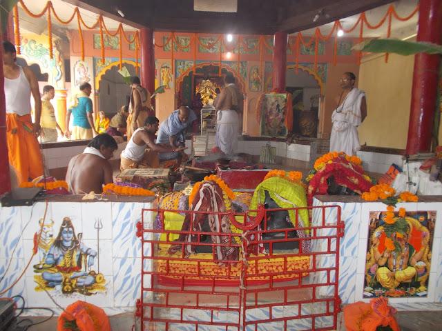 Saptamatruka puja at Maa Bhadrakali Templa, Aharapada, Bhadrak