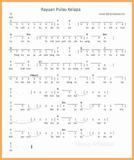 not angka lagu rayuan pulau kelapa lagu wajib