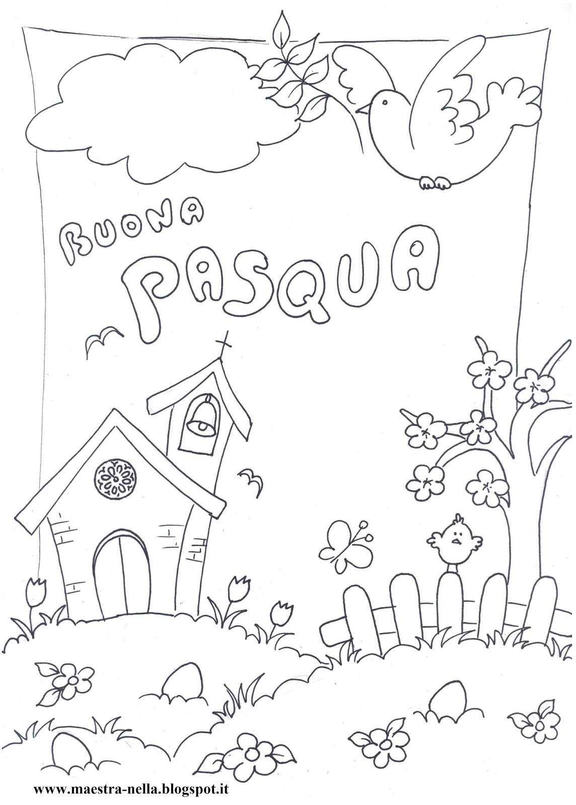 disegni da color are pasqua