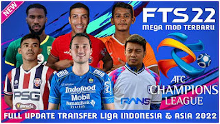 Download FTS 22 Android Full Update Transfer Liga Indonesia & Asia 2022